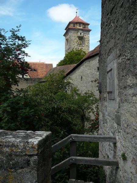 Turm der Stadtmauer von Rothenburg