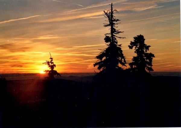Sonnenuntergang am Brocken