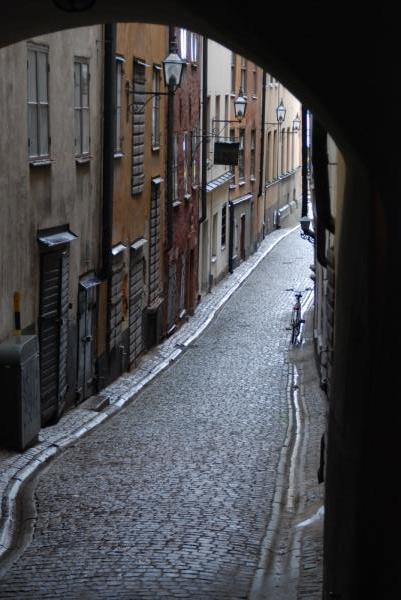 Häuserzeile in Stockholm